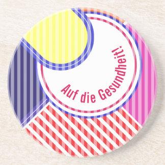 Posavasos Colores intrépidos, diseño gráfico de la multa