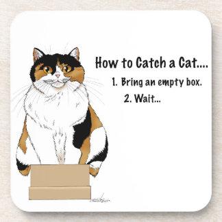 Posavasos Cómo coger un gato