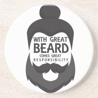 Posavasos Con la gran barba viene la gran camisa de la