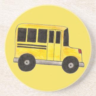 Posavasos Conductor del autobús amarillo grande del profesor