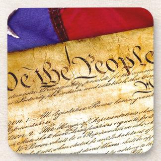 Posavasos Constitución 4ta julio de la independencia del 4