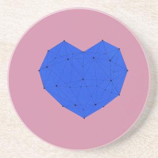 Posavasos Corazón geométrico