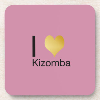 Posavasos Corazón juguetónamente elegante Kizomba de I