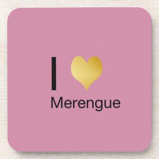 Posavasos Corazón juguetónamente elegante Merengue de I