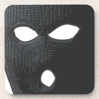 Posavasos criminal-máscara