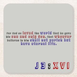 Posavasos Cuadrado De Papel 3:16 de Juan
