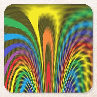 Posavasos Cuadrado De Papel Arco iris Flourishing
