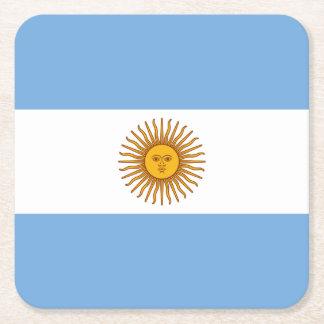 Posavasos Cuadrado De Papel Bandera argentina patriótica