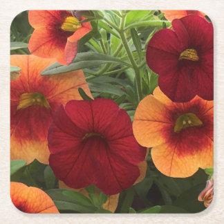 Posavasos Cuadrado De Papel Calor de The Sun floral