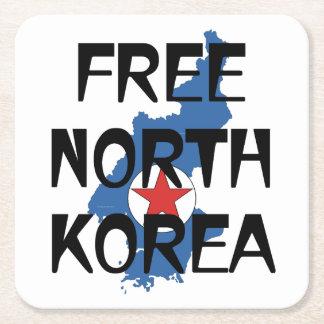 Posavasos Cuadrado De Papel CAMISETA Corea del Norte libre