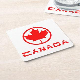 Posavasos Cuadrado De Papel Canadá