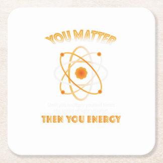 Posavasos Cuadrado De Papel Ciencia de la física usted energía divertida