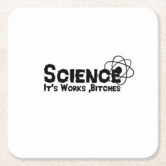 Posavasos Cuadrado De Papel Ciencia es regalos divertidos de los trabajos b