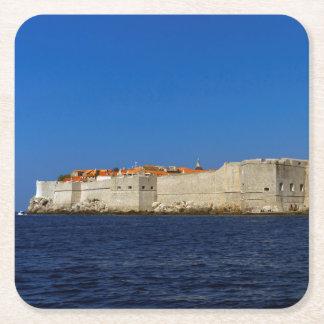 Posavasos Cuadrado De Papel Ciudad vieja de Dubrovnik, Croacia