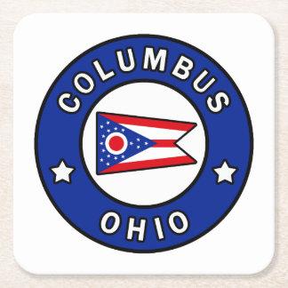 Posavasos Cuadrado De Papel Columbus Ohio