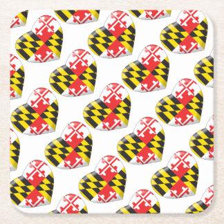 Posavasos Cuadrado De Papel Corazón de Maryland
