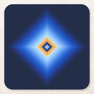 Posavasos Cuadrado De Papel Diamante del azul y del moreno
