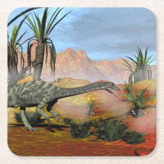 Posavasos Cuadrado De Papel Dinosaurio del Anchisaurus - 3D rinden