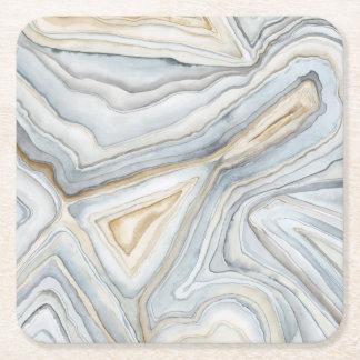 Posavasos Cuadrado De Papel Diseño abstracto veteado gris