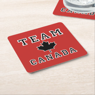 Posavasos Cuadrado De Papel Equipo Canadá