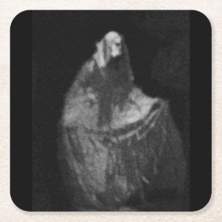 Posavasos Cuadrado De Papel Fantasma gótico