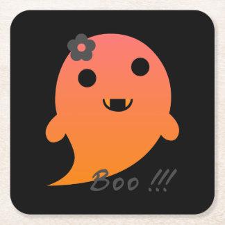Posavasos Cuadrado De Papel Fantasma lindo de Halloween