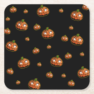 Posavasos Cuadrado De Papel Feliz Halloween