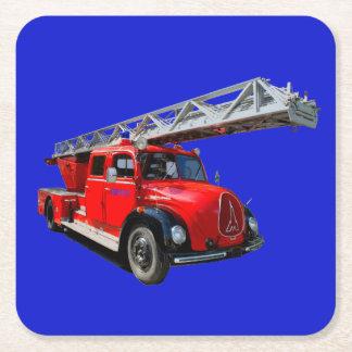 Posavasos Cuadrado De Papel Feuerwehrauto de las 50erJahre