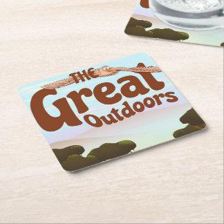 Posavasos Cuadrado De Papel Great Outdoors