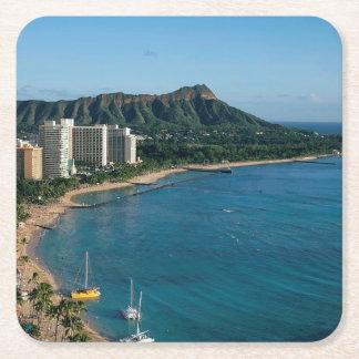 Posavasos Cuadrado De Papel Honolulu Hawaii
