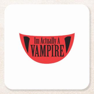 Posavasos Cuadrado De Papel Im divertido realmente un vampiro Halloween Meme