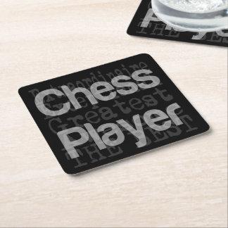 Posavasos Cuadrado De Papel Jugador de ajedrez Extraordinaire