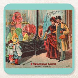 Posavasos Cuadrado De Papel la tarjeta comercial Guillermo Broadhead y los