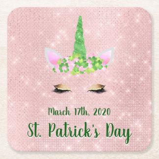Posavasos Cuadrado De Papel Lindo se ruboriza el fiesta del día de St Patrick