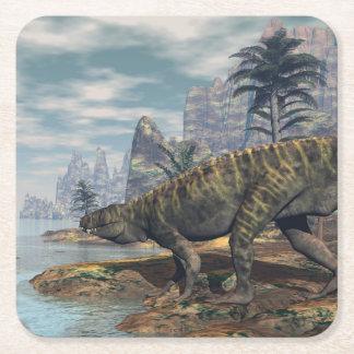 Posavasos Cuadrado De Papel Los dinosaurios -3D de Batrachotomus rinden