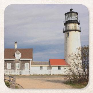 Posavasos Cuadrado De Papel Luz de Cape Cod
