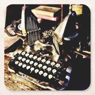 Posavasos Cuadrado De Papel Máquina de escribir antigua Oliverio #9