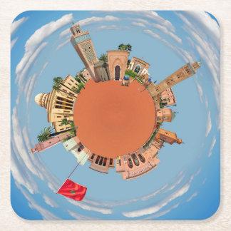 Posavasos Cuadrado De Papel Marrakesh poco lan del turismo del viaje de