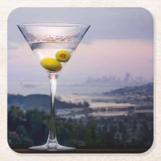 Posavasos Cuadrado De Papel Martini y San Francisco