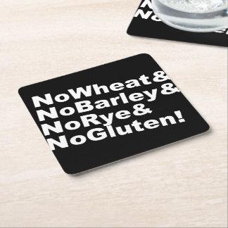 Posavasos Cuadrado De Papel ¡NoWheat&NoBarley&NoRye&NoGluten! (blanco)
