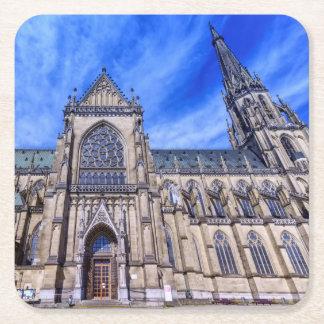 Posavasos Cuadrado De Papel Nueva catedral, Linz, Austria