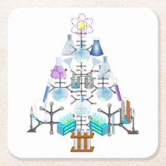 Posavasos Cuadrado De Papel Oh química, oh árbol del químico
