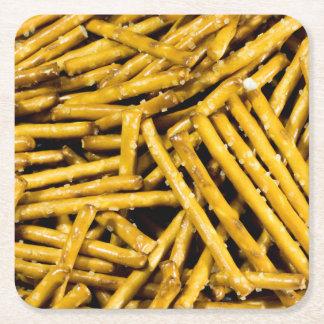 Posavasos Cuadrado De Papel Palillos de los pretzeles