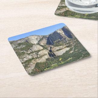 Posavasos Cuadrado De Papel Panorama 3 del valle de Yosemite - Yosemite