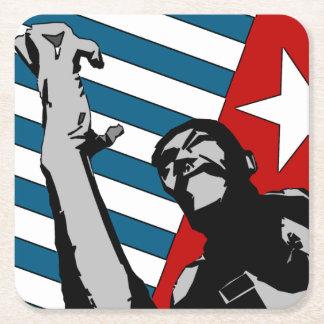 Posavasos Cuadrado De Papel Papua del oeste libre