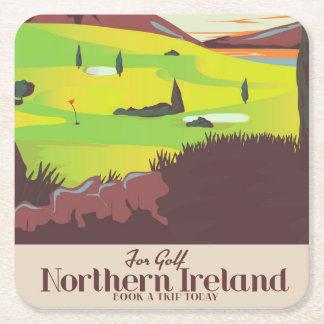 """Posavasos Cuadrado De Papel """"Para poster del viaje de Irlanda del Norte del"""