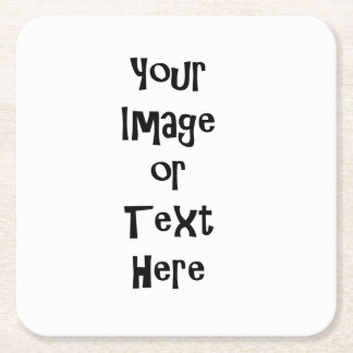 Posavasos Cuadrado De Papel Personalizar con las imágenes y el texto