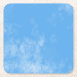 Posavasos Cuadrado De Papel Práctico de costa adaptable de las nubes