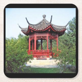 Posavasos Cuadrado De Papel Práctico de costa chino del salón de té