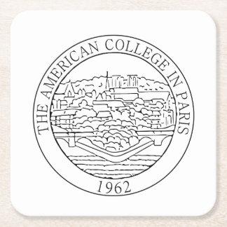 Posavasos Cuadrado De Papel Práctico de costa cuadrado con el logotipo del ACP